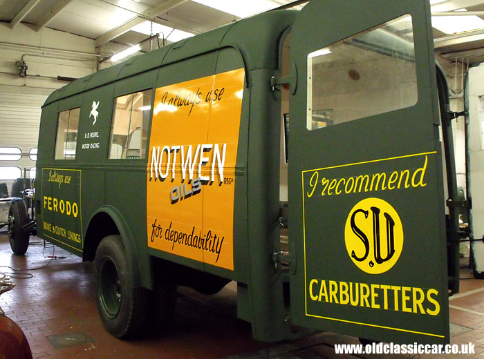All the signwriting is now complete on the nearside of the lorry's bodywork